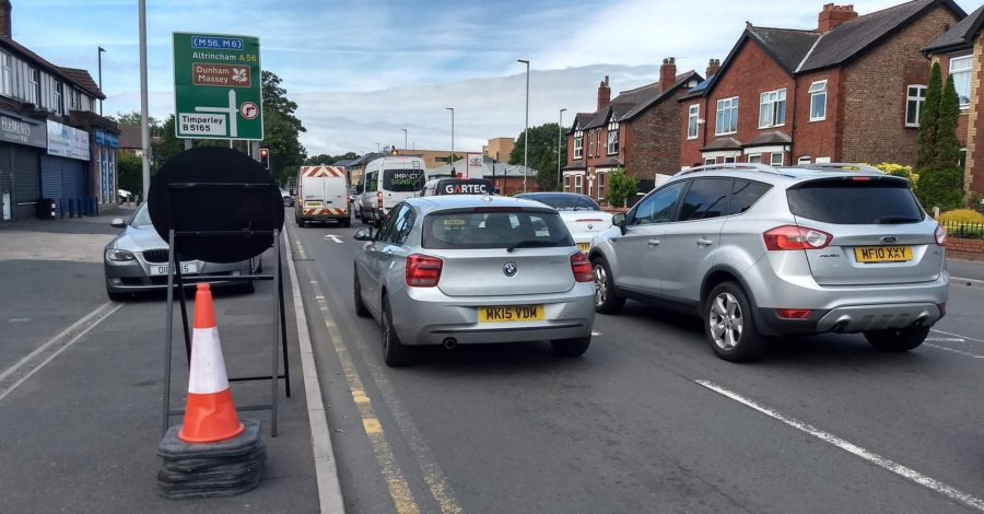Trafford Council removes cycle lane from key Timperley junction after outcry from drivers