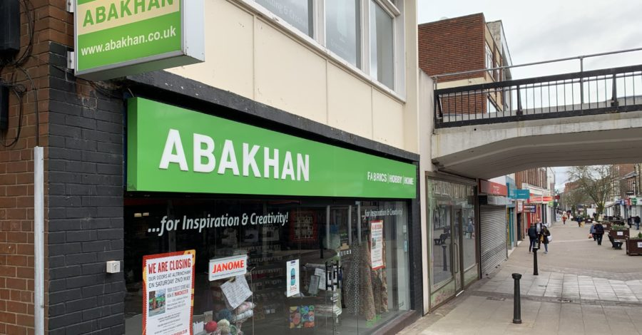 "The former Abakhan unit on George Street has been let as Altrincham benefits from ""shop local"" trend"