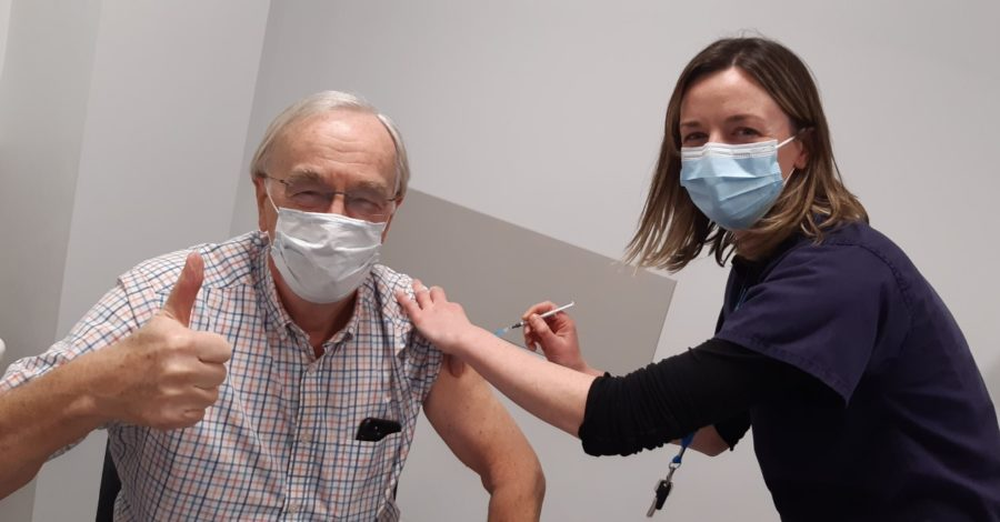 Vaccine rolls out to 75-79 group as almost 1,000 receive jab on record day at Altrincham hub