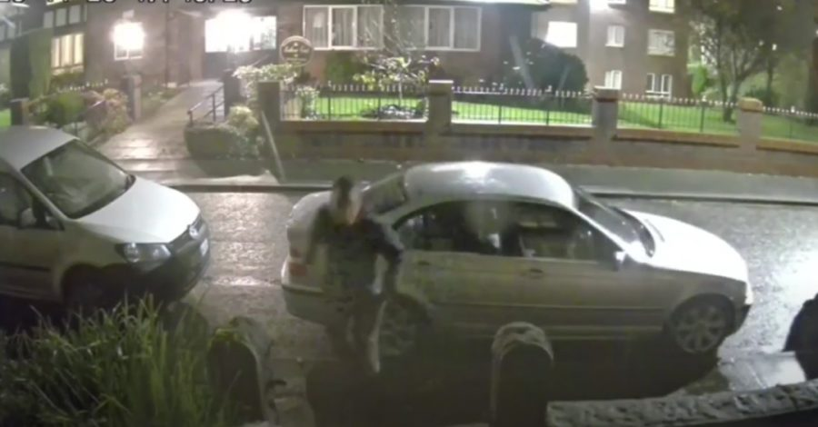 Watch: Police hunt after man left seriously injured in Altrincham knife attack