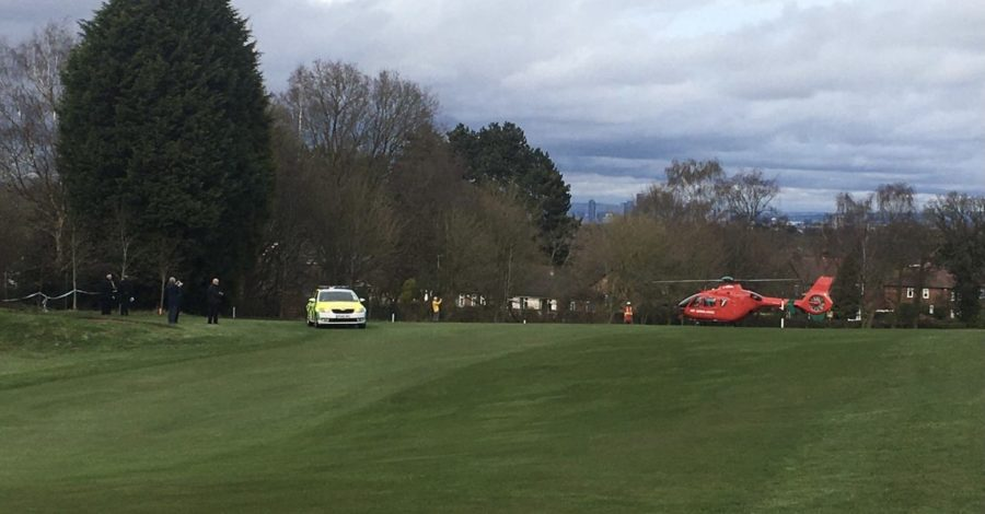 Man dies after collapsing on Hale Barns golf course