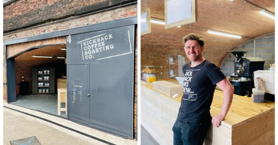 Former professional rugby player opens Kickback Coffee shop and roastery next to canal in Altrincham