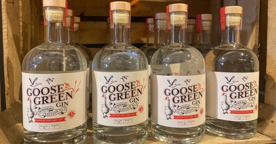Cheers! Goose Green now has its very own brand of gin