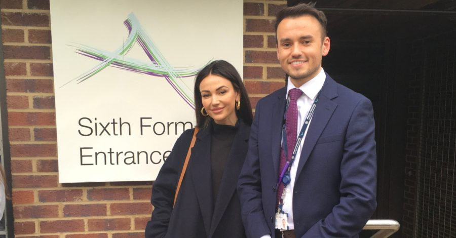 Michelle Keegan joins teacher brother to give Altrincham College drama students an acting masterclass