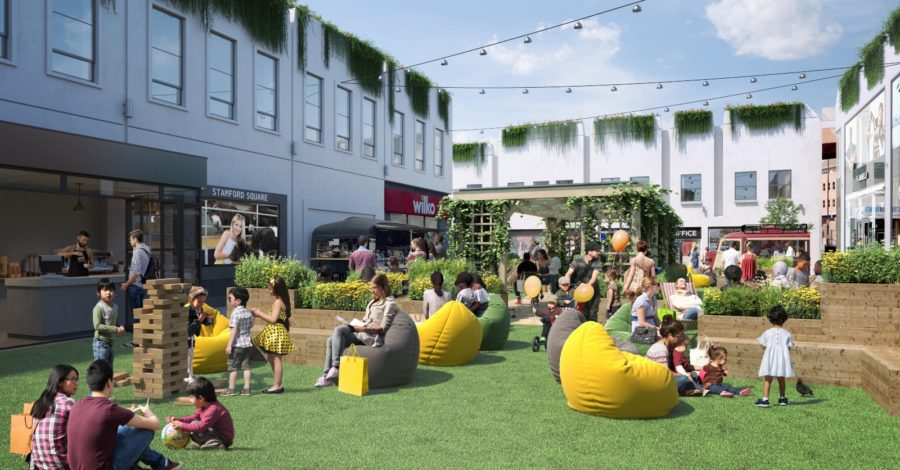 "Introducing the Not So Secret Garden… Plan revealed for a summer ""suburban oasis"" in Altrincham's Stamford Square"