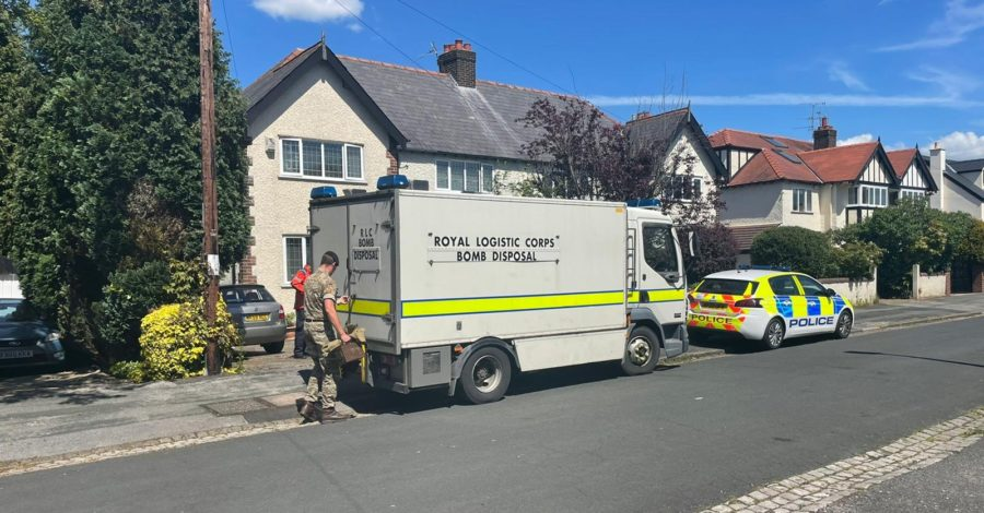 Bomb disposal unit called to Hale house after wartime grenade and live bullets discovered in cellar