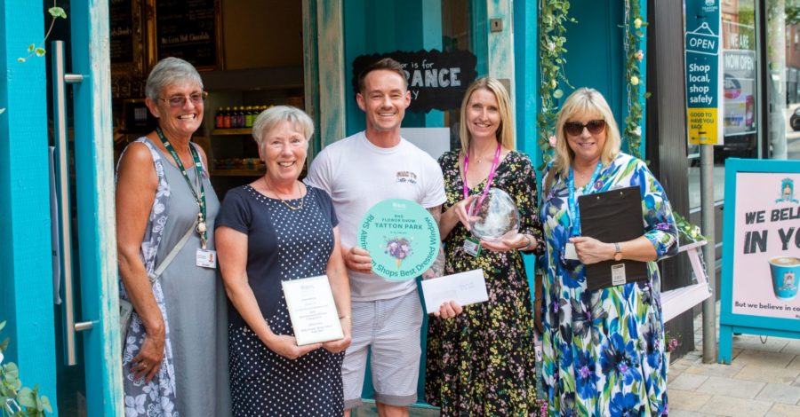 Gran T's Coffee House named Altrincham's Best Dressed Window by RHS judges – now it's your turn