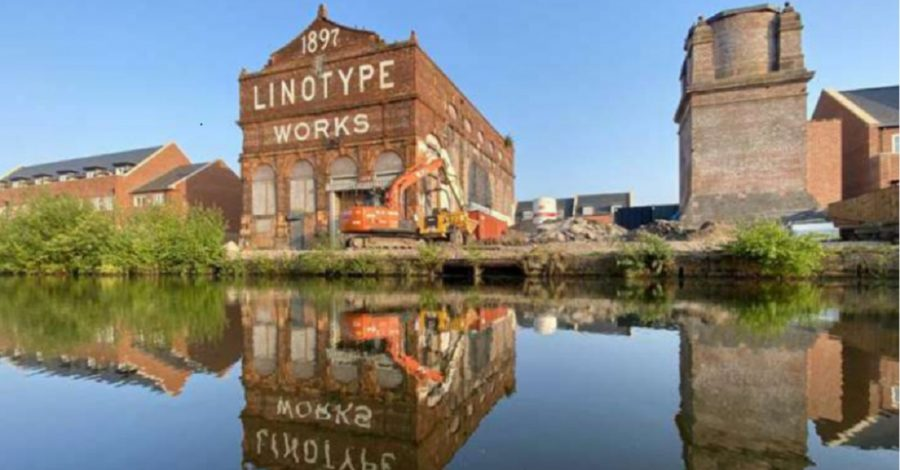 Altrincham's historic Linotype Works building has been saved from demolition