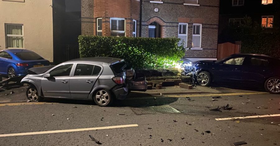 Up to six cars damaged in early-morning collision on Hale Road