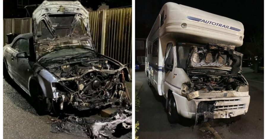 Investigation underway after car and motorhome torched in Timperley arson attack