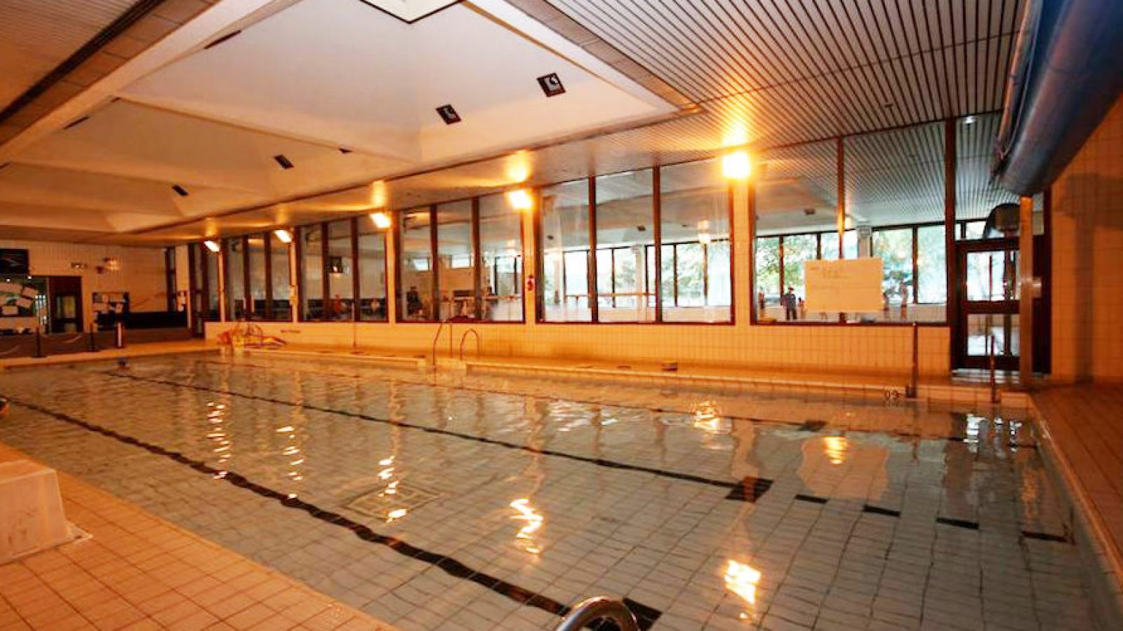 One of the pools used by school children at Altrincham Leisure Centre