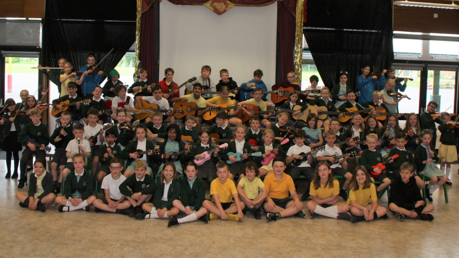 Musical pupils at Willows Primary School in Timperley