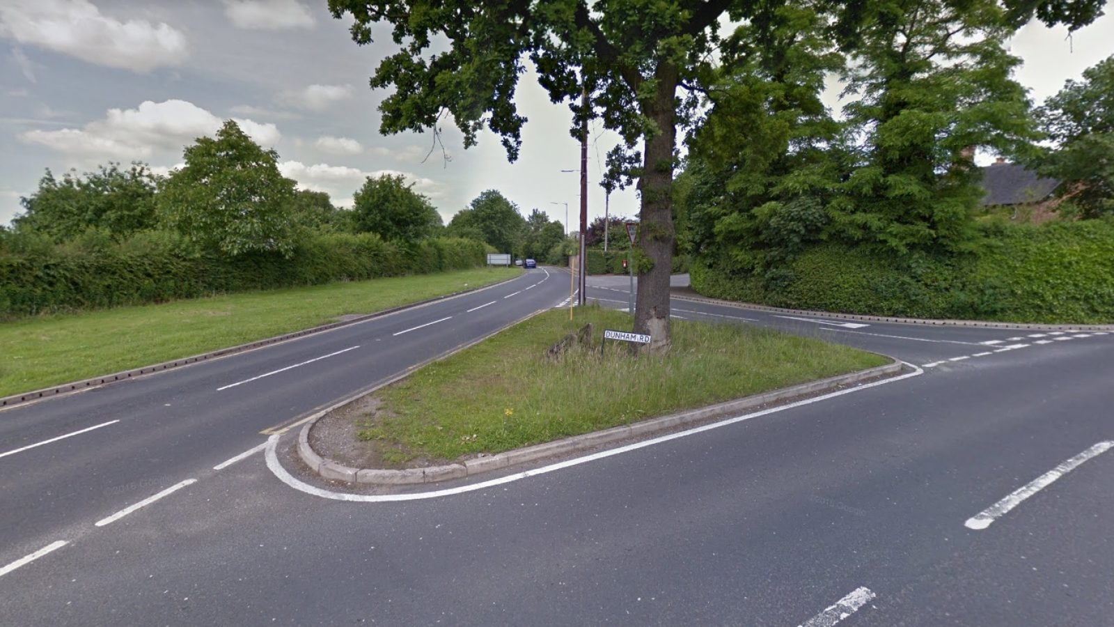 The Dunham Road junction where the collision happened