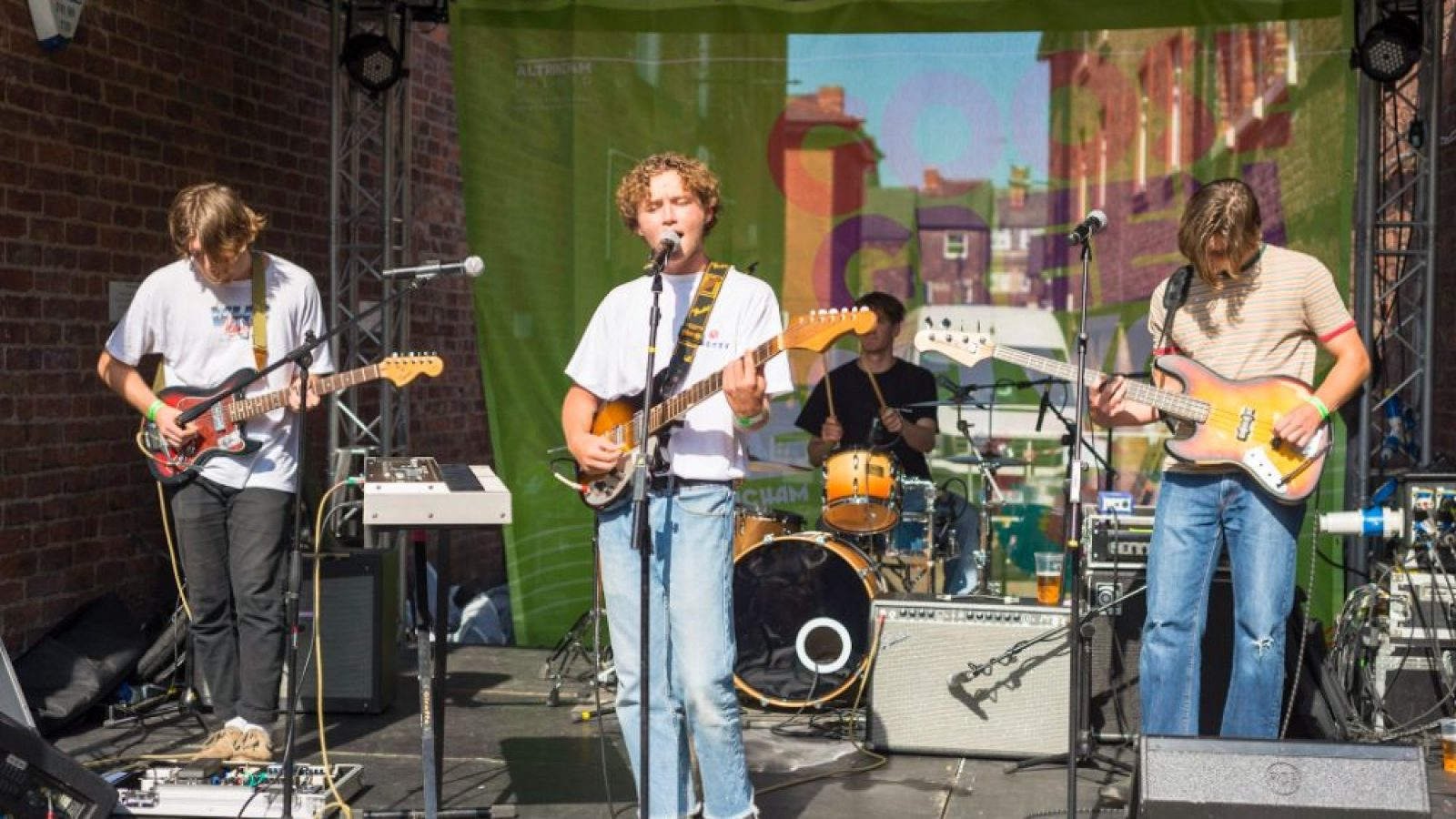 One of the many live bands who played Goose Green and other music venues across the town over the weekend
