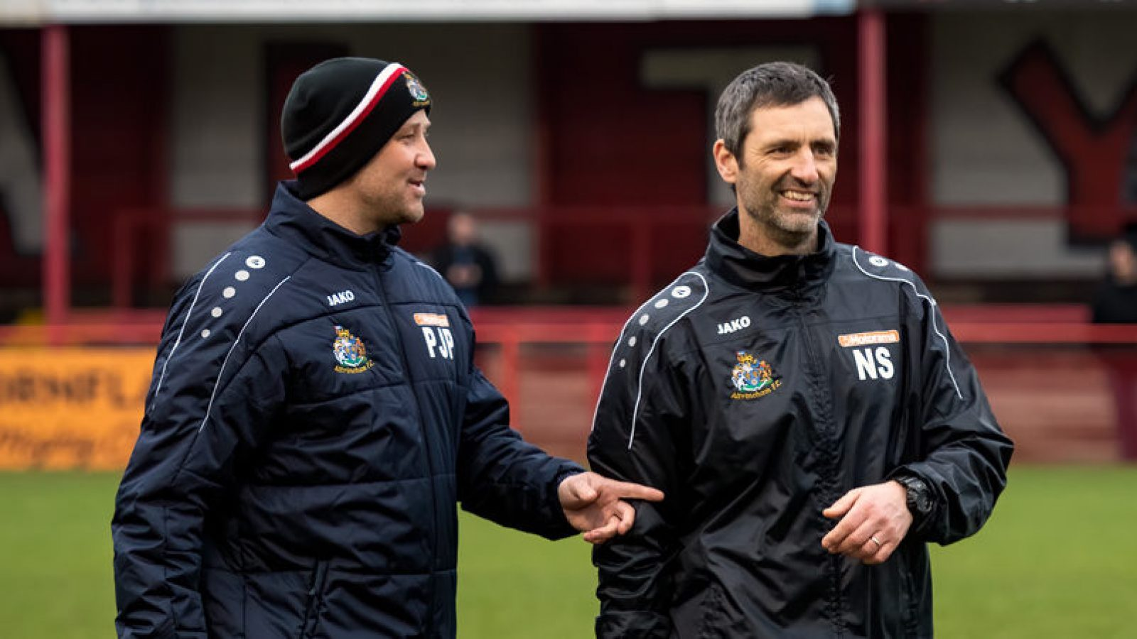Neil Sorvel (right) with Robins manager Phil Parkinson