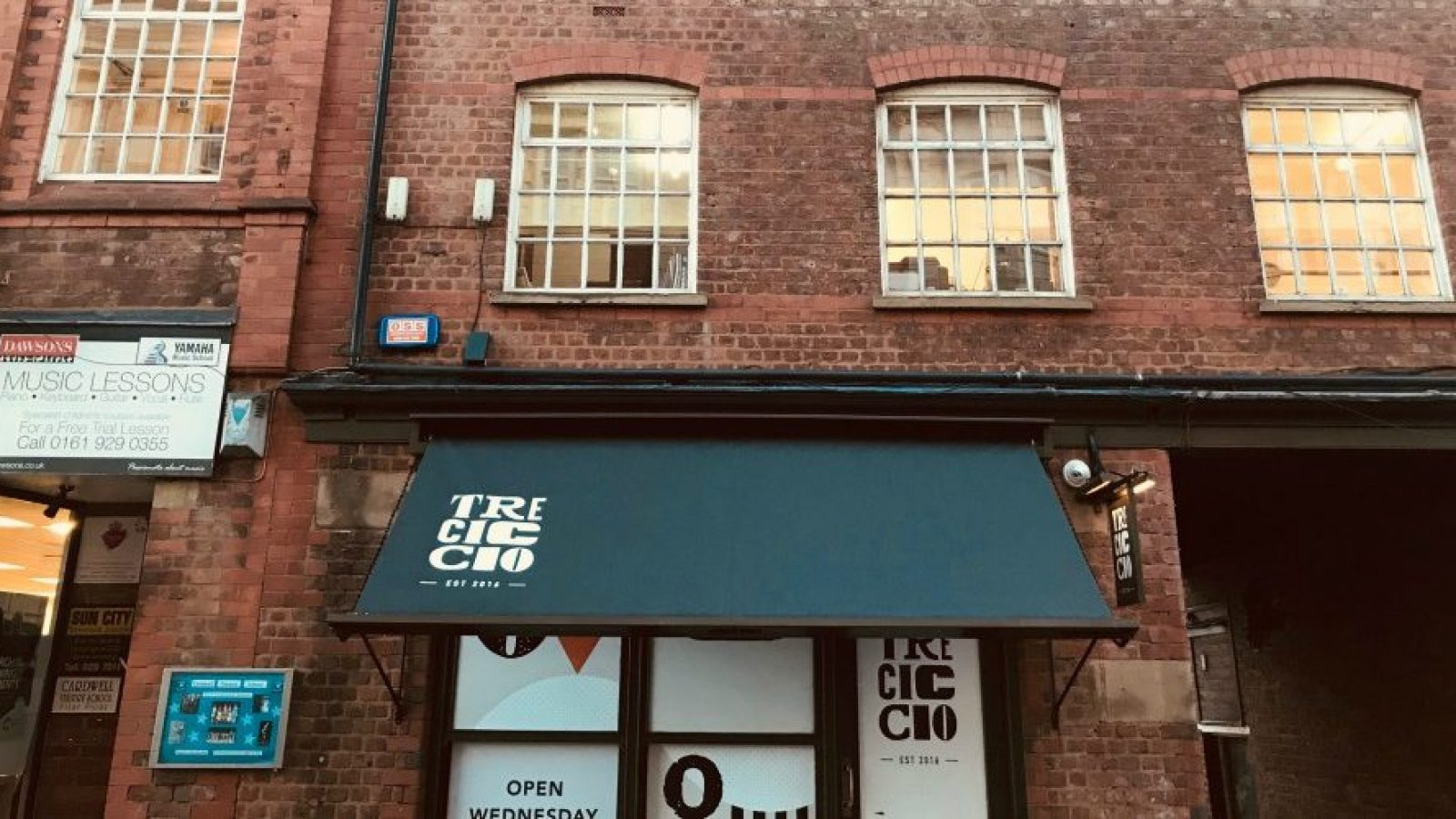 Tre Ciccio is located on Moss Lane in Altrincham town centre